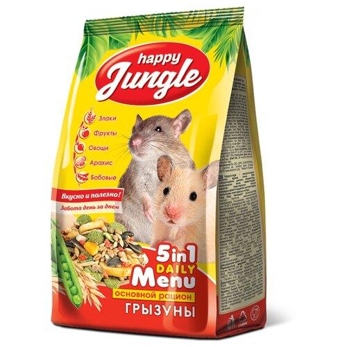 Корм для грызунов Happy Jungle 5 in 1 Daily Menu Основной рацион 350 г