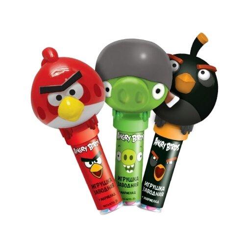 Жевательный мармелад Конфитрейд Angry Birds с игрушкой ассорти 20 г карамель на палочке конфитрейд sweet bar микс вкусов 20 шт по 20 г
