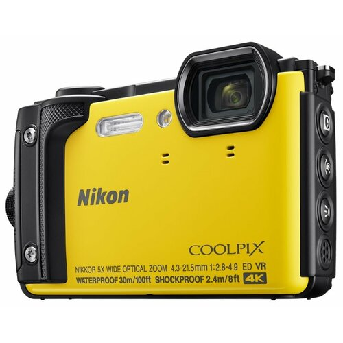 Фотоаппарат Nikon Coolpix W300 желтый фотоаппарат nikon coolpix w300 vqa070e1 black 16 mp 1 2 3 max 4608 x 3456 5x zoom экран 3 0 0 231 г