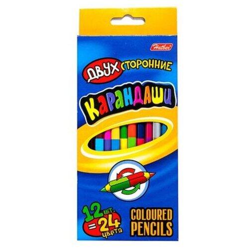Купить Hatber цветные карандаши Двухсторонние, 24 цвета (BK2_24890), Цветные карандаши