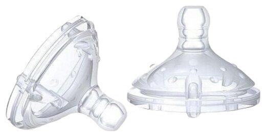 Соска Nuby Natural Touch с регулируемым потоком, 0м+ 2шт