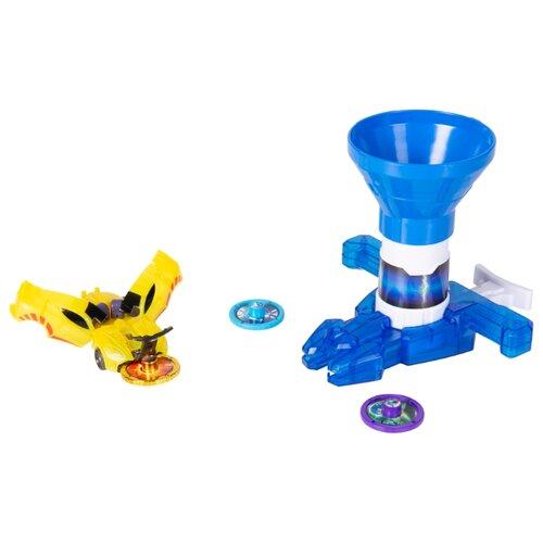 Купить Интерактивная игрушка трансформер РОСМЭН Дикие Скричеры. Запускатели. Бластер для дисков+машинка (35898/36574) синий, Роботы и трансформеры