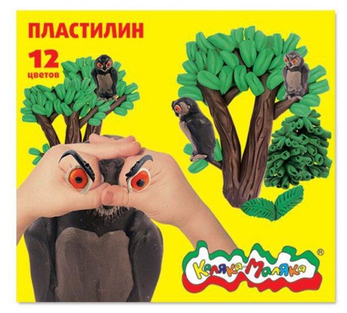 Купить Пластилин Каляка-Маляка 12 цветов (ПКМ12) по низкой цене с доставкой из Яндекс.Маркета (бывший Беру)