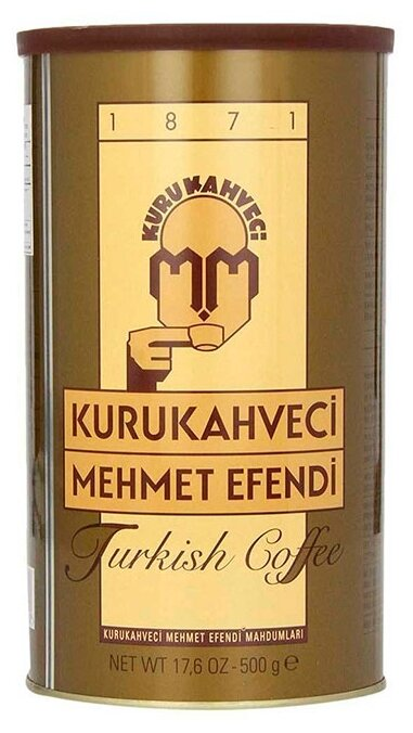 Кофе молотый Kurukahveci Mehmet Efendi жестяная банка