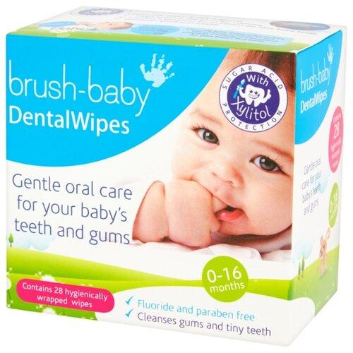 Купить Салфетки Brush Baby BRB142 0-16 мес, Гигиена полости рта