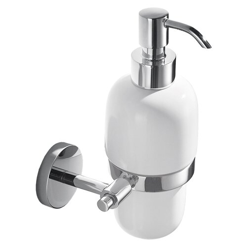 Дозатор для жидкого мыла IDDIS Gezanne GEZSBC0I46 хром/белый дозатор для жидкого мыла iddis calipso calmbg0i46