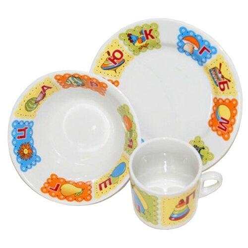 Набор для завтрака Добрушский фарфоровый завод Идиллия (Азбука) 3 предмета набор для завтрака osz disney cars принцессы 3 предмета