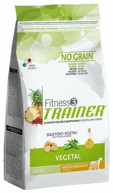 Корм для собак TRAINER (12.5 кг) Fitness3 No Grain Adult Medium&Maxi Vegetal dry