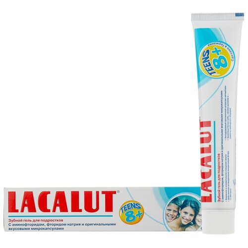 Купить Зубной гель Lacalut Teens 8+, 50 мл, Гигиена полости рта