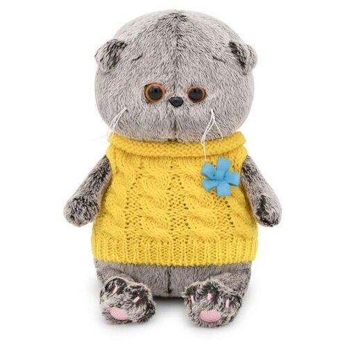 Купить Мягкая игрушка Basik&Co Кот Басик baby в жилетке 20 см, Мягкие игрушки