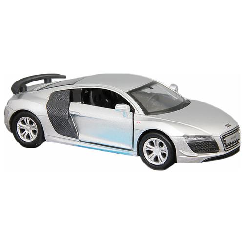 Купить Легковой автомобиль Автопанорама Audi R8 GT (J12286/JB1200138) 1:43 11.5 см серебристый, Машинки и техника