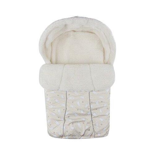 Купить Конверт-мешок Idea Kids зимний BaBy 75 см бежевый, Конверты и спальные мешки