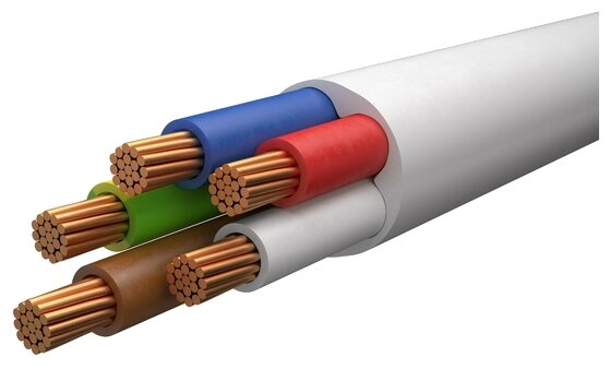 Провод REXANT ПВС 5х2.5 (100 м) ГОСТ
