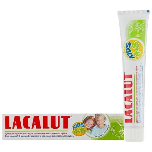 Зубная паста Lacalut Kids 4-8 лет, 50 мл гигиена полости рта lacalut зубная паста kids 4 8 лет 50 мл