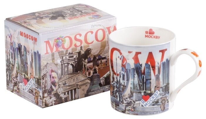 Кружка-гигант 700 мл GIFT'N'HOME GM-700 MOSCOW белый