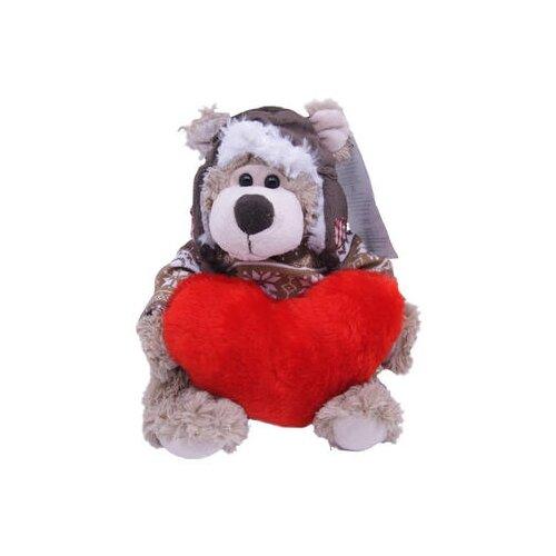 Купить Мягкая игрушка Magic Bear Toys Мишка Рэймонд в шапке-ушанке и свитере с сердцем 20 см, Мягкие игрушки