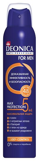 Антиперспирант спрей Deonica for men Max-Protection 5в1