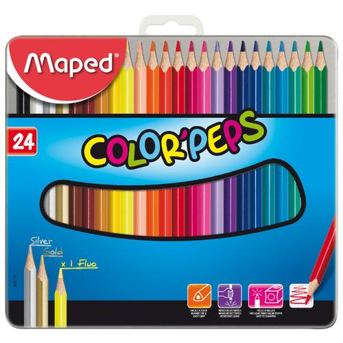 Купить Maped Цветные карандаши Color Peps 24 цвета, металлическая коробка (832016)