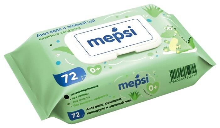 Влажные салфетки MEPSI Алое вера 72 шт