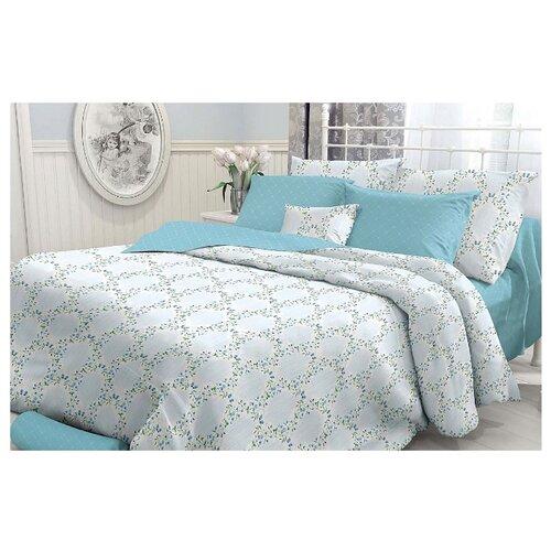 Постельное белье 1.5-спальное Verossa Primary 70х70 см, перкаль белый/голубой цена 2017
