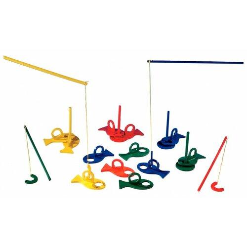 Купить Бирюлька Beleduc Рыбалка 22364 красный/синий/зеленый/желтый, Развитие мелкой моторики