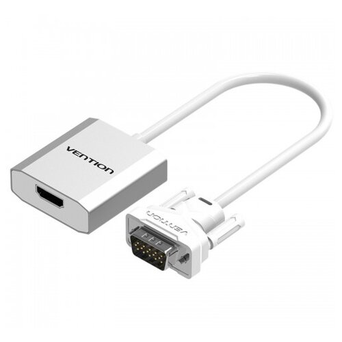 Фото - Переходник Vention VGA - HDMI/jack 3.5 mm (ACEW0) 0.15 м серебристый переходник hdmi vga hp x1b84aa