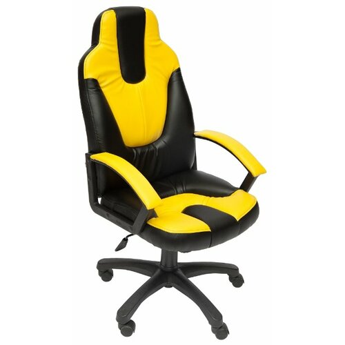 Компьютерное кресло TetChair Нео 2, обивка: искусственная кожа, цвет: черный/желтый компьютерное кресло tetchair барон обивка искусственная кожа цвет бежевый