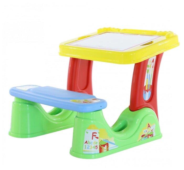 Набор мебели Nika Kids первоклашка зеленый фон (стол-парта+мяг стул) h580 арт.КУ1/13