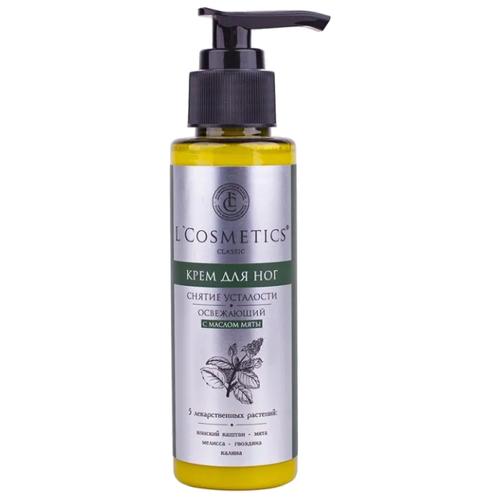L'Cosmetics Крем для ног Освежающий с маслом мяты 100 мл баночка