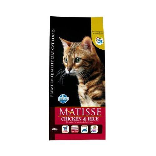 Корм для кошек Farmina Matisse с курицей и с рисом 20 кг корм консервированный для кошек farmina matisse мусс с ягненком 85 г