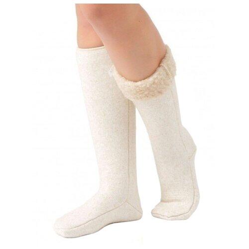 Гольфы Holty из овечьей шерсти 040201-0400, размер S(34-36), бежевый носки holty из овечьей шерсти 040901 0400 размер s 34 36 бежевый