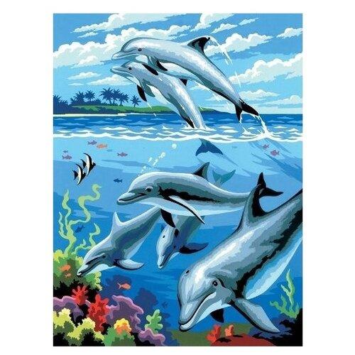 Купить Royal & Langnickel Картина по номерам Дельфины 22х29 см (PJS 24), Картины по номерам и контурам