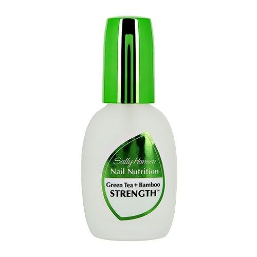 Базовое и верхнее покрытие Sally Hansen 2 в 1 Nail Nutrition Green Tea + Bamboo Strength 13.3 мл прозрачный