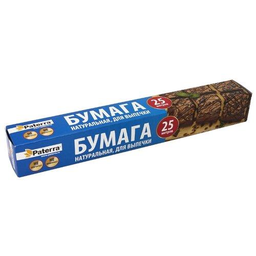 Фото - Бумага для выпечки Paterra 209-088, 25 м х 38 см фольга пищевая paterra прочная 29 см х 50 м