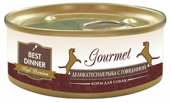 Корм для собак Best Dinner High Premium (Gourmet) для собак Деликатесная Рыба с Говядиной (0.1 кг) 24 шт.