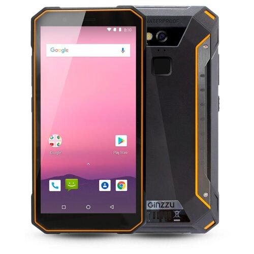 Смартфон Ginzzu RS9602 черный/оранжевыйМобильные телефоны<br>