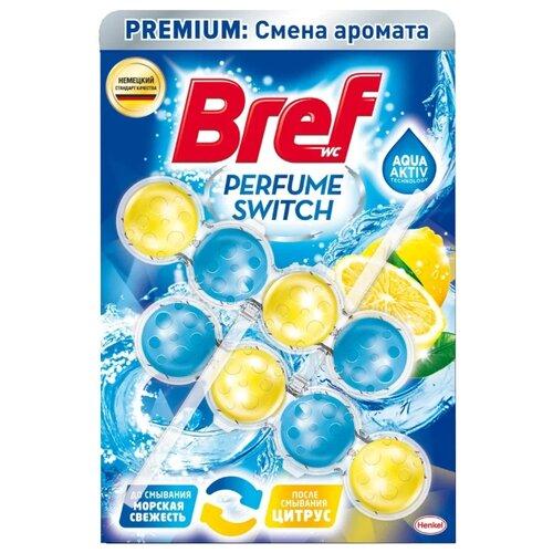 Bref туалетный блок Perfume Switch Морская свежесть - Цитрус 2 шт.Для кафеля, сантехники и труб<br>