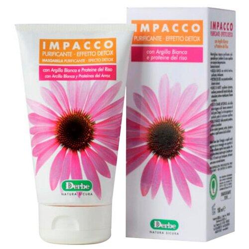 Derbe Detox Impacco Маска для волос с белой глиной и протеинами риса против себорейного дерматита, 150 мл эффективный шампунь от себорейного дерматита