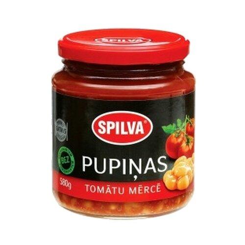 Фасоль Spilva в томатном соусе, стеклянная банка 580 г