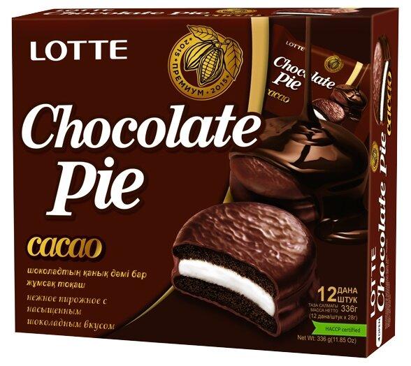 Пирожное Lotte Confectionery Choco Pie Cacao