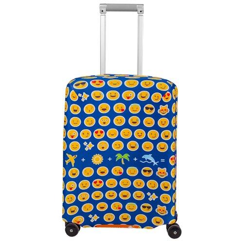 Чехол для чемодана ROUTEMARK Эмоджи SP180 S, синий чехол для чемодана routemark искры и блестки art lebedev sp310 s фиолетовый
