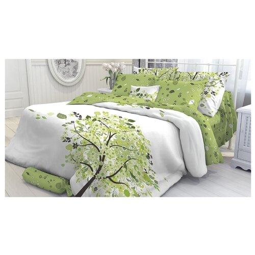 Постельное белье 1.5-спальное Verossa Arthur 70х70 см,перкаль белый/зеленый цена 2017
