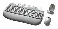 Клавиатура и мышь Logitech Cordless Desktop Rechargeable White USB+PS/2