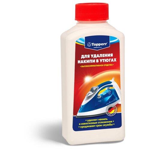 Фото - Жидкость Topperr для очистки от накипи утюгов 250 мл средство topperr для очистки от накипи кофемашин 3006