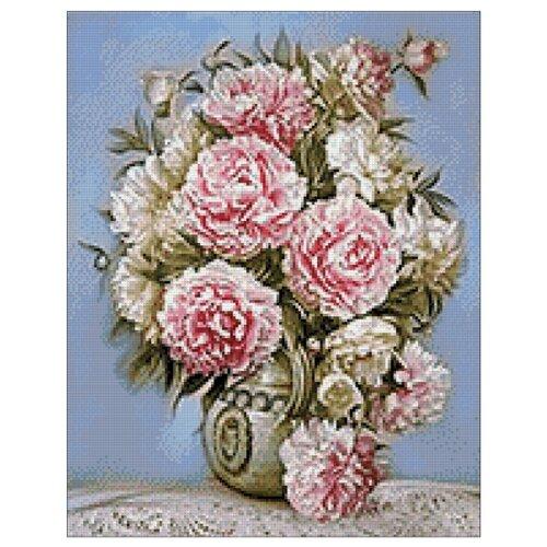 Гранни Алмазная мозаика Пышные пионы (ag672) 38x48 см