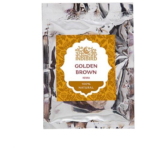 Хна Indibird золотисто-коричневая, 50 г хна для волос натуральная черная indibird 50 г