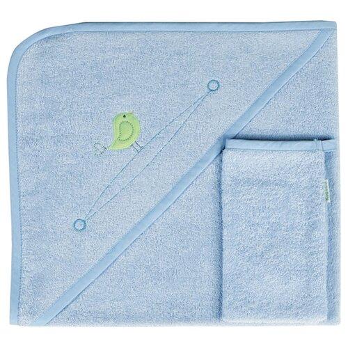 Фото - Kidboo Комплект полотенце-уголок+варежка Happy Happy банное 75х75 см голубой полотенце уголок fiorellino premium baby фиореллино премиум беби 90 90см варежка белый
