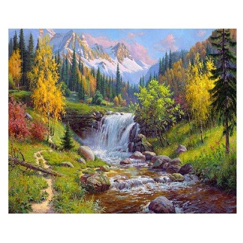 Купить Molly Картина по номерам Горный ручей 40х50 см (KH0285), Картины по номерам и контурам