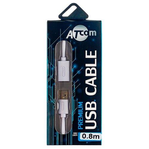 Удлинитель Atcom Premium USB - USB (AT3687) 0.8 м белыйКомпьютерные кабели, разъемы, переходники<br>