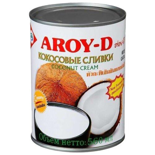 Сливки Aroy-D кокосовые 70%, 560 мл сливки aroy d кокосовые 70